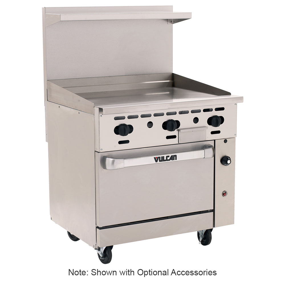 "Vulcan-Hart 36S-36GT 36"" Gas Range with Griddle, LP"