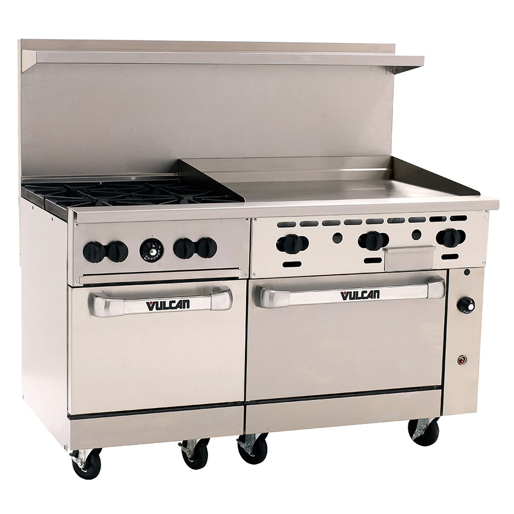 "Vulcan-Hart 60SC-4B36GT 60"" 4-Burner Gas Range with Griddle, NG"