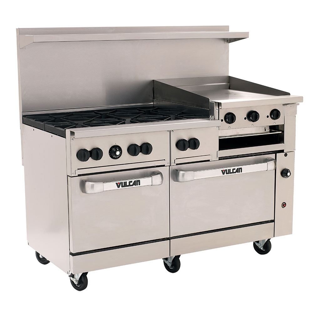 "Vulcan-Hart 60SC-6B24GB 60"" 6-Burner Gas Range with Griddle, NG"