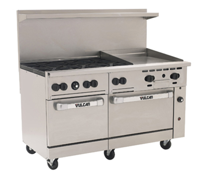 "Vulcan-Hart 60SS-6B24G 60"" 6-Burner Gas Range with Griddle, LP"