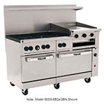 "Vulcan-Hart 60SS-6B24GB 60"" 6-Burner Gas Range with Griddle & Broiler, NG"