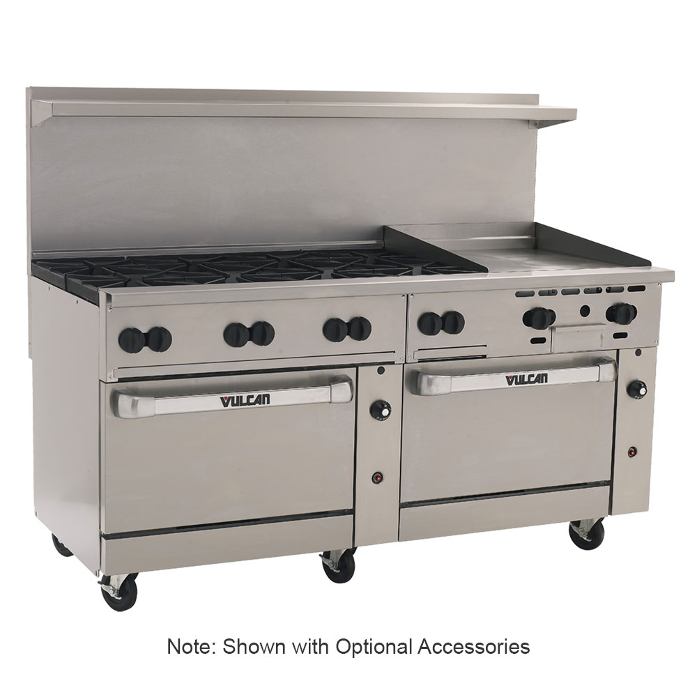 "Vulcan-Hart 72SC-8B24G 72"" 8-Burner Gas Range with Griddle, NG"