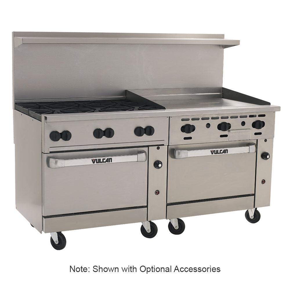 "Vulcan-Hart 72SS-6B36G 72"" 6-Burner Gas Range with Griddle, NG"