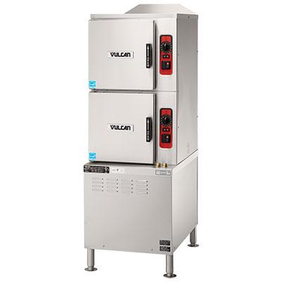 Vulcan-Hart C24EA10 PS Electric Floor Model Steamer w/ (10) Full Size Pan Capacity, 240v/1ph