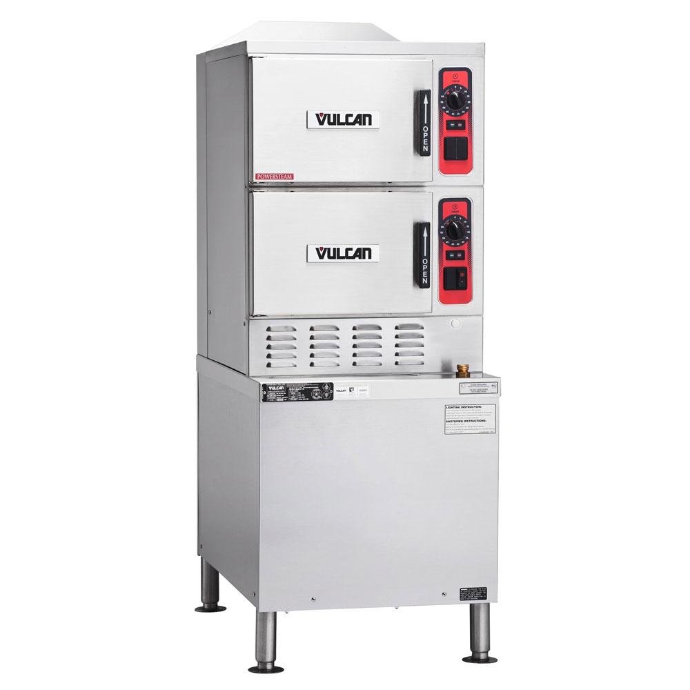 Vulcan-Hart C24EA6 Electric Floor Model Steamer w/ (6) Full Size Pan Capacity, 240v/3ph