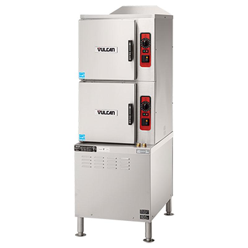 Vulcan-Hart C24ET6-LWE Electric Floor Model Steamer w/ (6) Full Size Pan Capacity, 208v/3ph