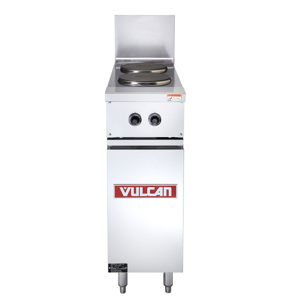 "Vulcan EV12-2FP-480 12"" 2-Sealed Element Electric Range, 480v/3ph"