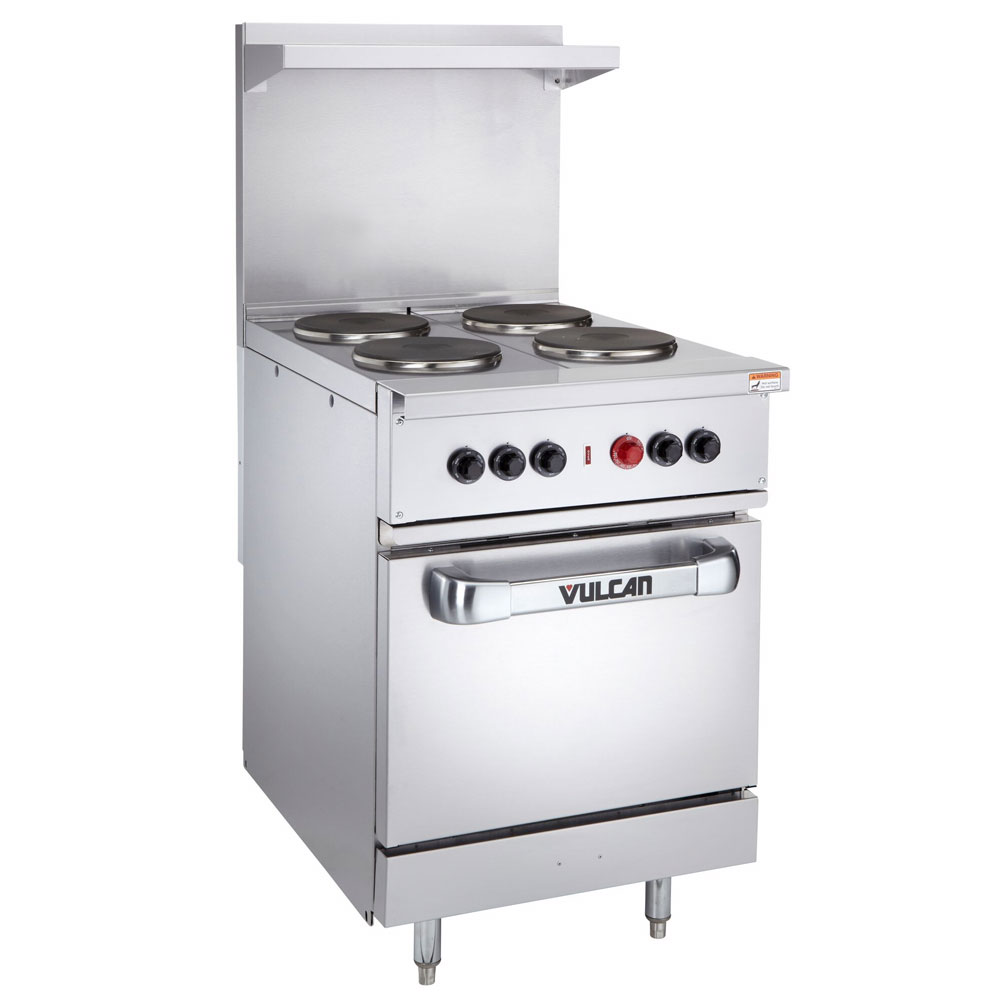 "Vulcan-hart EV24-S-4FP-480 3 24"" 4-Sealed Element Electric Range, 480/3v"