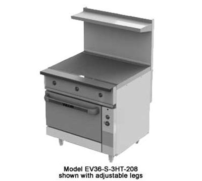 "Vulcan-Hart EV36-S-3HT-480 36"" Electric Range with (3) Hot Top, 480v/3ph"