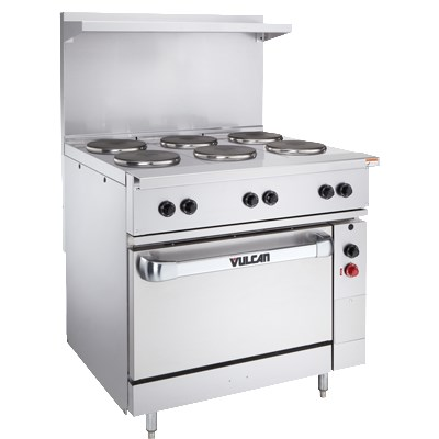VULCAN EV36-S-4FP12G208 36 Electric Range w/ Griddle, 208...