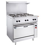 "Vulcan-Hart EV36S-4FP12G240 36"" Electric Range w/ Griddle, 240v/3ph"