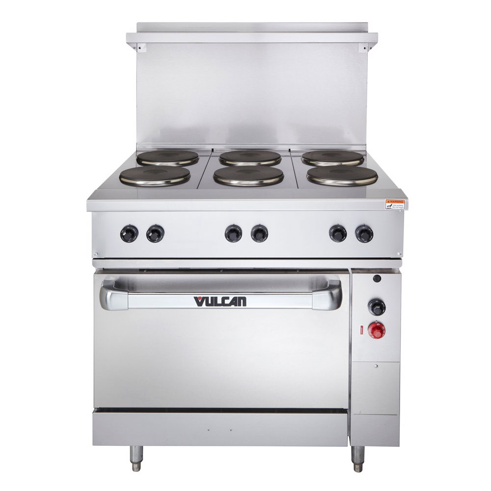 "Vulcan-Hart EV36-S-6FP-2401 36"" 6-Sealed Element Electric Range, 240/1v"