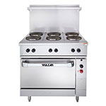 "Vulcan-Hart EV36-S-6FP-480 3 36"" 6-Sealed Element Electric Range, 480/3v"