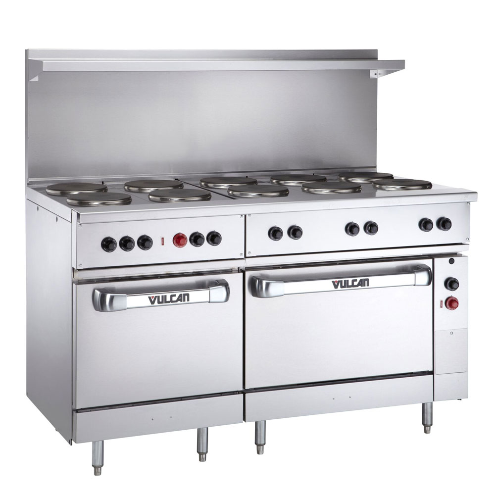"Vulcan-Hart EV60-SS-10FP-480 60"" 10-Sealed Element Electric Range, 240v/1ph"