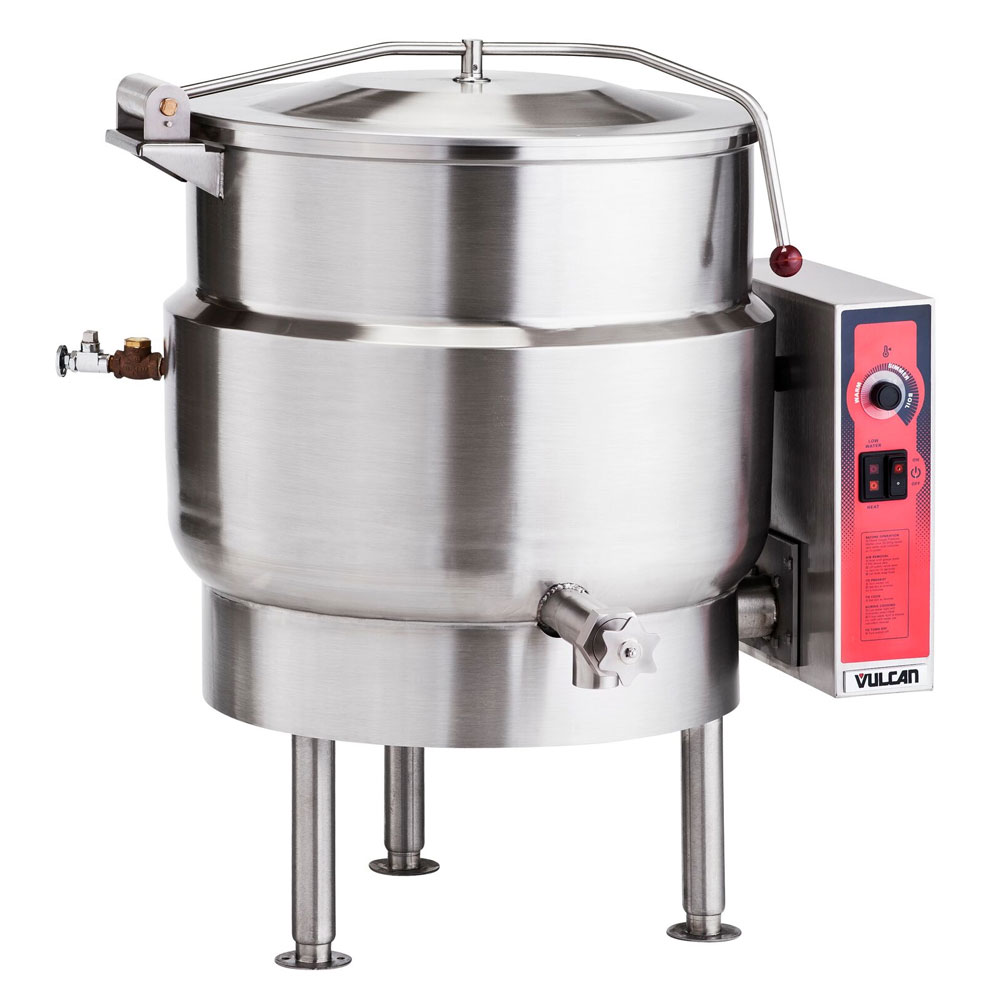 Vulcan K40EL Stationary Kettle w/ 40-Gallon Capacity, Spring Cover, 208/1 V