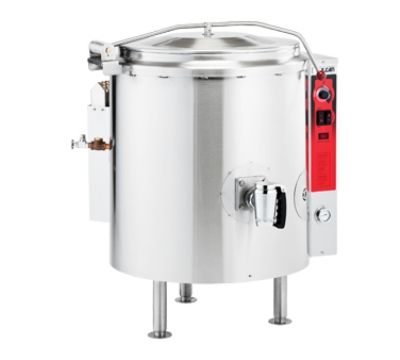 Vulcan-Hart K60GL 60-Gallon Stationary Kettle w/ Spring Assist Cover, Draw-off, LP