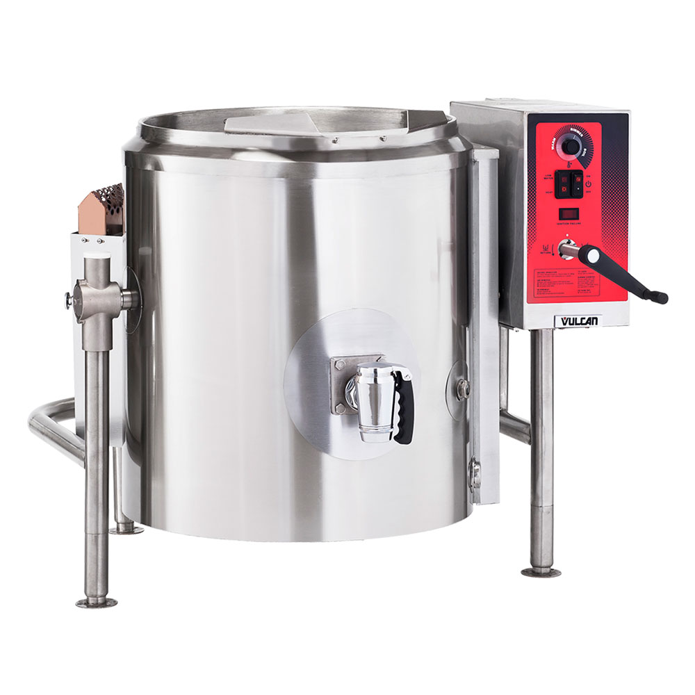 Vulcan-Hart K60GL 60-Gallon Stationary Kettle w/ Spring Assist Cover, Draw-off, NG