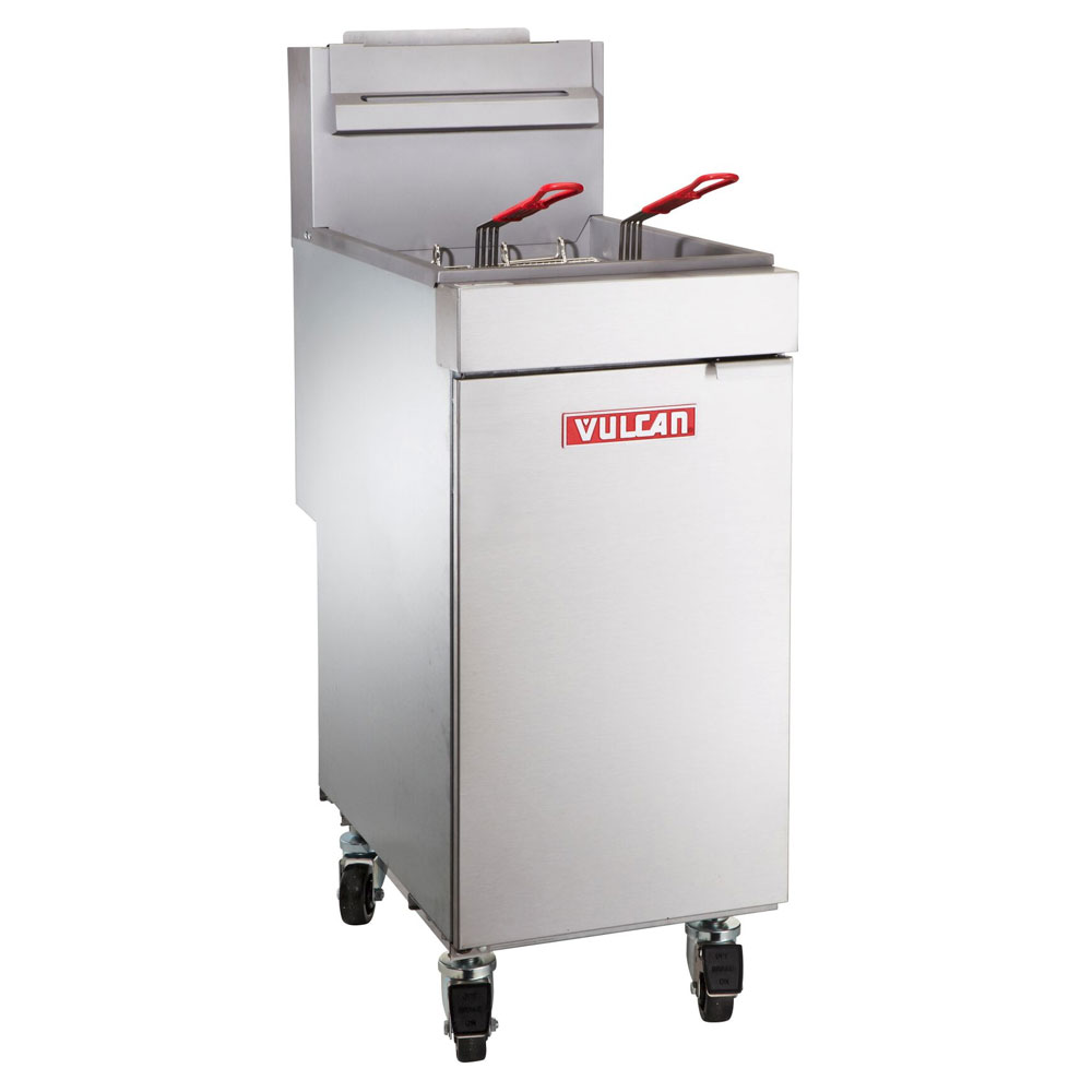 Vulcan-Hart LG300 Gas Fryer - (1) 40-lb Vat, Floor Model, LP