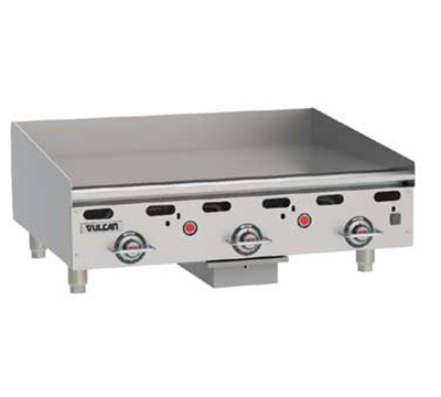 "Vulcan-Hart MSA36-30 LP 36"" Gas Griddle - Thermostatic, 1"" Steel Plate, LP"