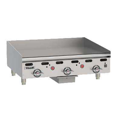 "Vulcan-Hart MSA36NG 36"" Gas Griddle - Thermostatic, 1"" Steel Plate, NG"
