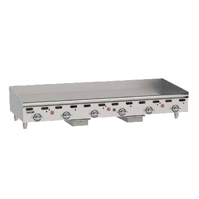 "Vulcan-Hart MSA72NG 72"" Gas Griddle - Thermostatic, 1"" Steel Plate, NG"