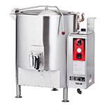 Vulcan ST100 Stationary Kettle, Fully Jacketed w/ 100-Gallon Capacity, Spring Cover