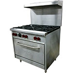 "Vulcan-Hart SX36-6B 36"" 6-Burner Gas Range w/ Standard Oven, LP"