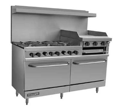 "Vulcan-Hart V260 60"" 6-Burner Gas Range with Griddle, LP"