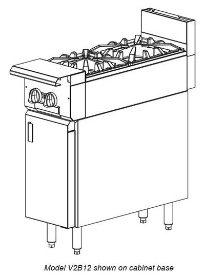 """Vulcan-Hart V2B12 12"""" 2-Burner Gas Range, LP"""