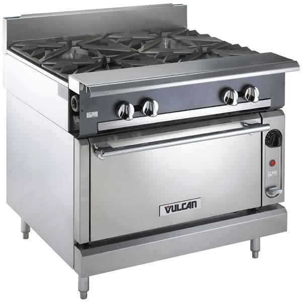 "Vulcan-Hart V4B36C 36"" 4-Burner Gas Range w/ Convection Oven, NG"