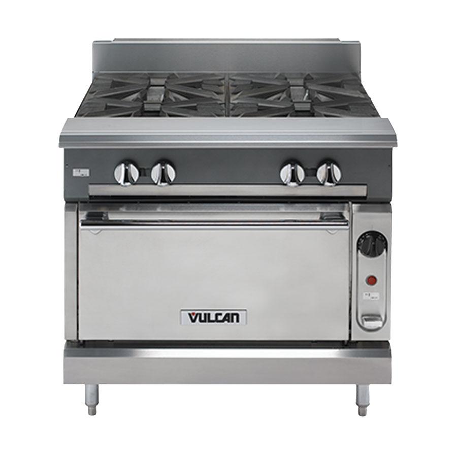 "Vulcan-Hart V4B36 36"" 4-Burner Gas Range, NG"