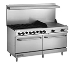 "Vulcan-Hart V60F 60"" 6-Burner Gas Range with Griddle, LP"