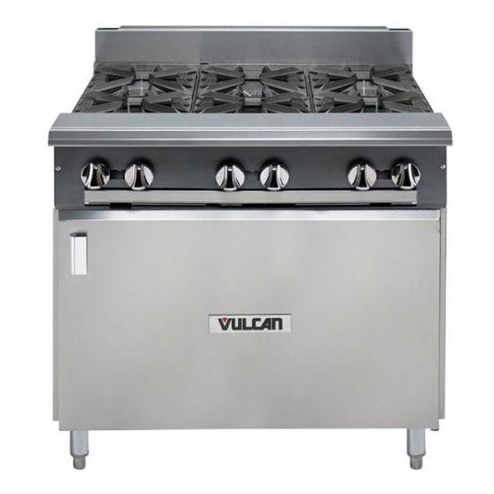 "Vulcan-Hart V6B36B 36"" 6-Burner Gas Range w/ Cabinet Base, LP"