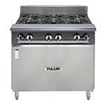 "Vulcan-Hart V6B36B 36"" 6-Burner Gas Range w/ Cabinet Base, NG"