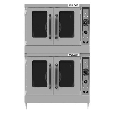 Vulcan-Hart VC55ED Double Full-Size Electric Convection Oven - 208v/3ph