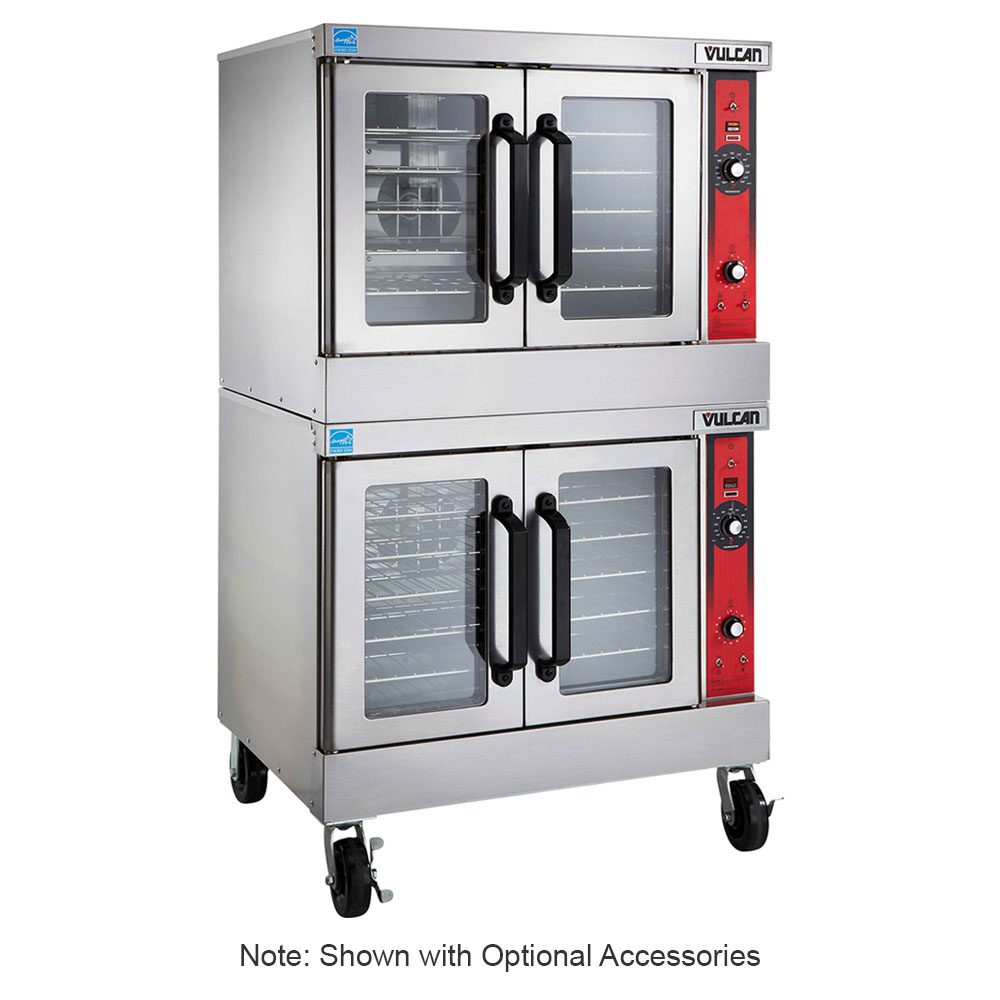 Vulcan-Hart VC44ED Double Full Size Electric Convection Oven - 240v/3ph