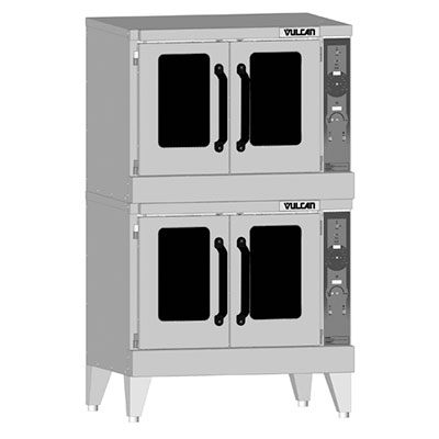 Vulcan-Hart VC55GD Double Full-Size Electric Convection Oven - LP