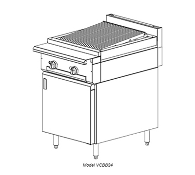 "Vulcan-Hart VCBB24 24"" Gas Range with Charbroiler, LP"
