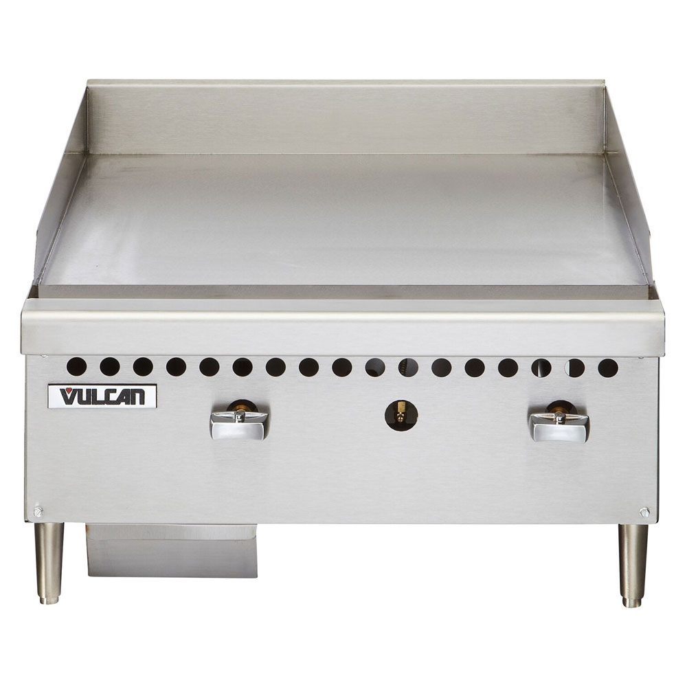 "Vulcan-Hart VCRG24MLP 24"" Gas Griddle - Manual, 1"" Steel Plate, LP"