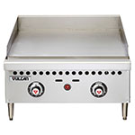 "Vulcan VCRG24TLP 24"" Gas Griddle - Thermostatic, 1"" Steel Plate, LP"