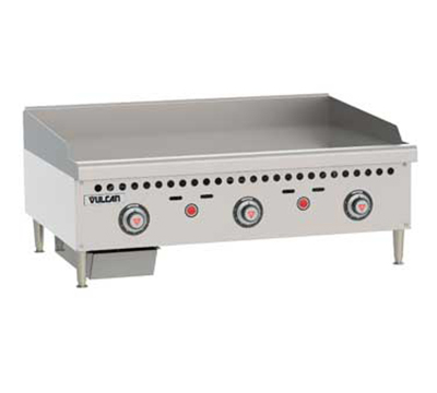 "Vulcan-Hart VCRG36TNG 36"" Gas Griddle - Thermostatic, 1"" Steel Plate, NG"