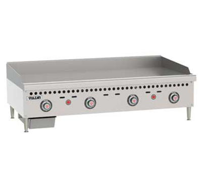 "Vulcan-Hart VCRG48TNG 48"" Gas Griddle - Thermostatic, 1"" Steel Plate, NG"