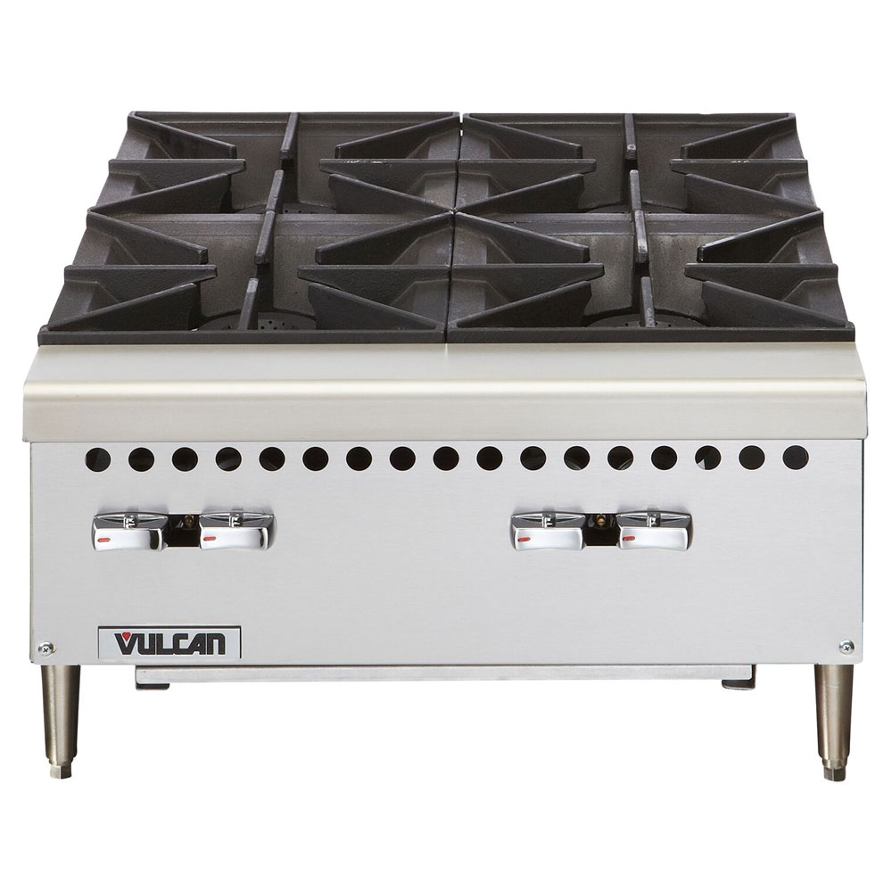 "Vulcan-Hart VCRH24LP 24"" Hotplate, 4-Open Burners w/ Lift-Off Burner Heads, LP"
