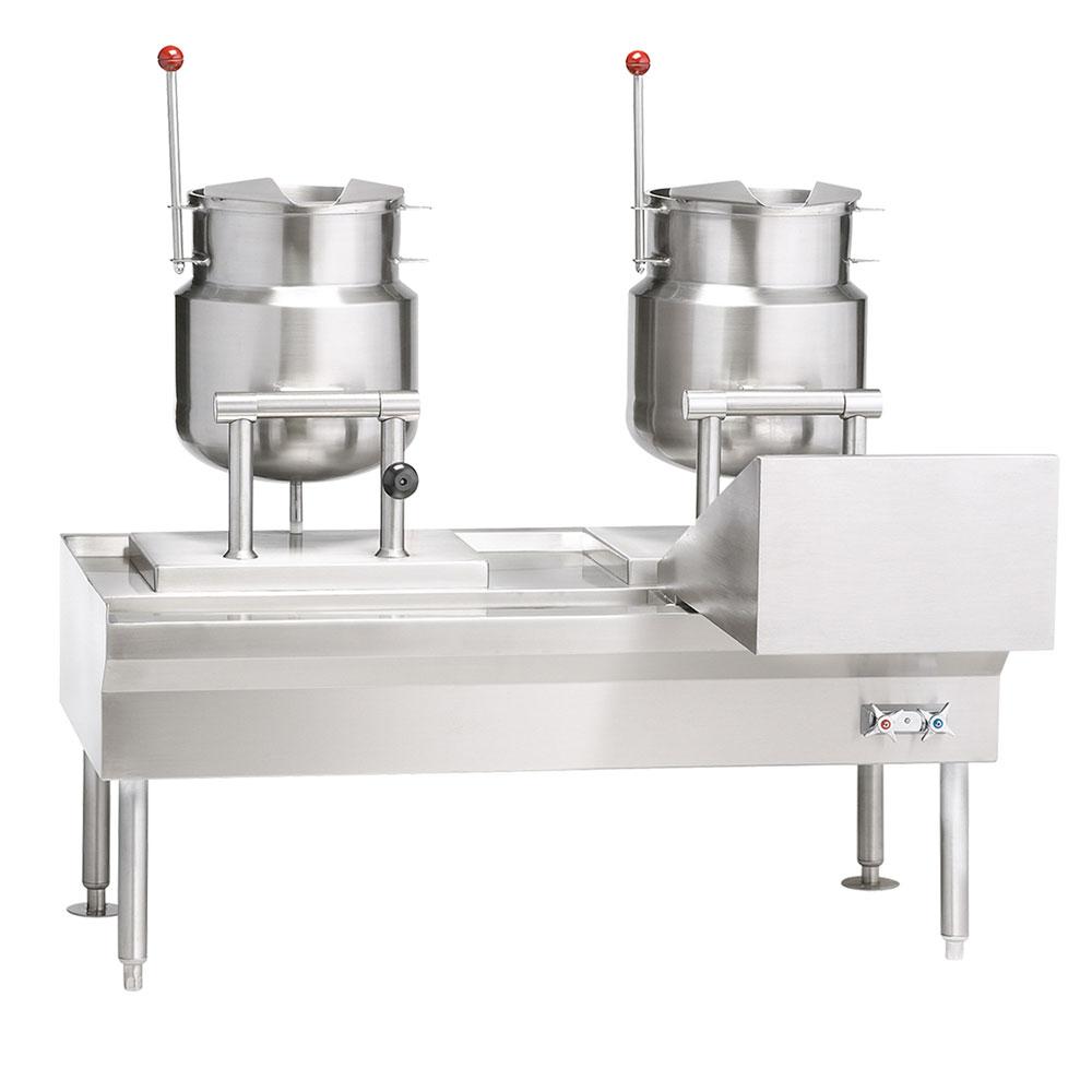 """Vulcan-Hart VEKT50/66 50"""" Kettle Stand Assembly, (2) K6ETT Titling Kettle, 240/50/60/3 V"""