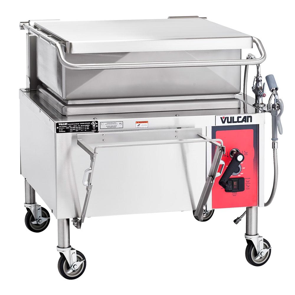 """Vulcan VG30 NG 36"""" Braising Pan w/ 30-Gallon Capacity, Manual Tilt, NG"""
