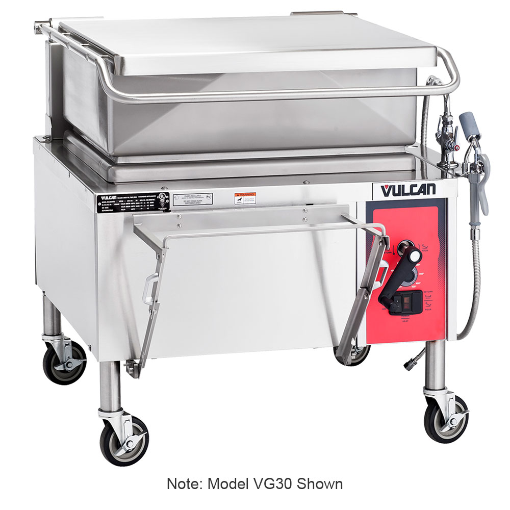 "Vulcan VG40 46"" Braising Pan w/ 40-Gallon Capacity, Manual Tilt, LP"