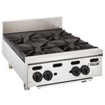 "Vulcan-Hart VHP424 24"" Achiever Hotplate w/ 4-Open Burner, Lift-Off Burner Head, LP"