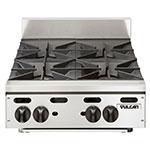 "Vulcan-Hart VHP424 24"" Gas Hotplate w/ (4) Burners & Infinite Controls, LP"