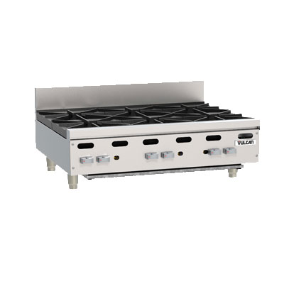 "Vulcan-Hart VHP636 36"" Achiever Hotplate w/ 6-Open Burner, Lift-Off Burner Head, LP"