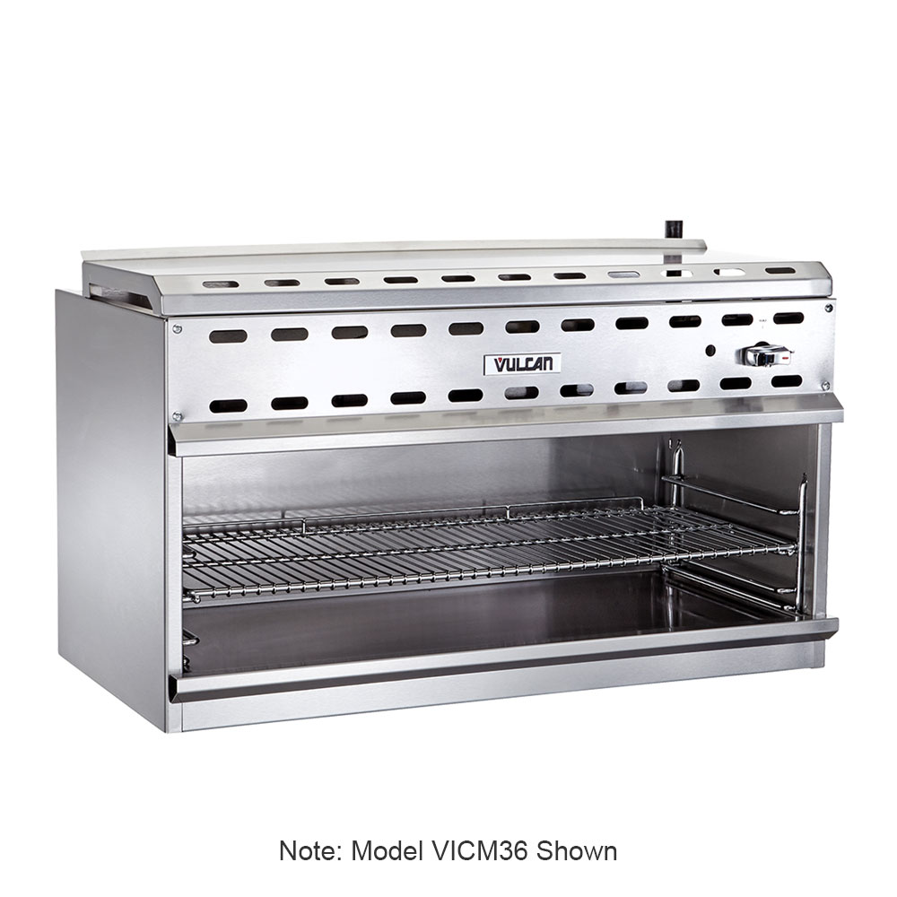 "Vulcan-Hart VICM48 48"" Gas Cheese Melter w/ Infrared Burner, Stainless, NG"